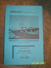 Sahara Hotel  6th Strip Hotel Information Pamphlet Elvis Presley Garland Prima