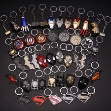 Stainless Steel Captain America Iron man Car Keychain Man Women Pendant Gift