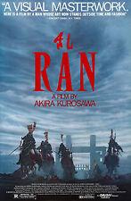 RAN Movie POSTER Rare Kurosawa Samurai Japanese