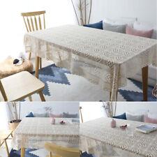 Vintage Tablecloth Rectangle Cotton Round Table Cloth Cover Party Wedding Decor