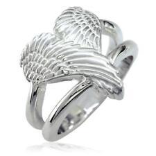 Medium Angel Heart Wings Ring, Wings Of Love, 17mm in Sterling Silver