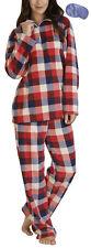 i-Smalls Ladies Check Print Microfleece Pyjama Set with Lilac Eye Mask