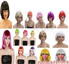 Adults Ladies Super Star Pop Star Short Long Wigs Fancy Dress Costume Wig NEW