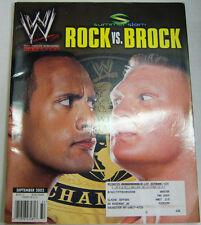 WWf Magazine Rock Vs. Brock Summerslam September 2002 101512R