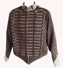 """""""chaqueta militar retrofuturista"""" por SDL en Marrón + ajuste color beige y oro Trenza De Decoración"""