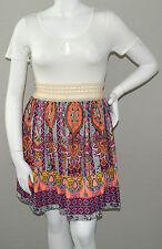 Destiny 101 Boho Bohemian Crochet Lace Waist T-Shirt Dress Plus 1X 2X 3X New!