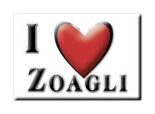 CALAMITA LIGURIA ITALIA FRIDGE MAGNET MAGNETE SOUVENIR I LOVE ZOAGLI (GE)