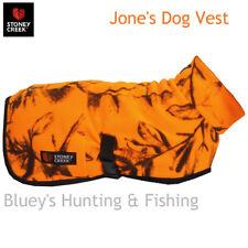 Stoney Creek Jones Blaze Orange Camo micro Fleece Dog Coat  Vest