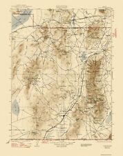 Topographical Map Print - Lovelock Nevada Quad - USGS 1935 - 17 x 21.5