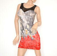 MINIABITO vestito CORTO abitino giromanica elasticizzato copricostume dress 100D