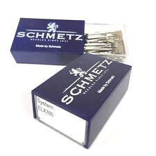 100 Pk. Schmetz ELX705 Flat Shank Serger Overlock Needles ELNA JANOME BERNINA