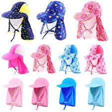 Prettyia Baby & Kids Boys Girls Sun Protection Sporty Flap Swim Hat UV Flap Cap