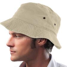 Bucket Hat Cap Fishing Boonie Brim Visor Sun Summer Mens Womens Camping Putty