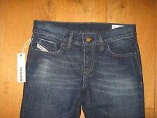 LIV 8FC basso DIESEL Rise Slim Straight jeans 24 25 27 Girovita UK 4 6 8 XXXS XXS XS