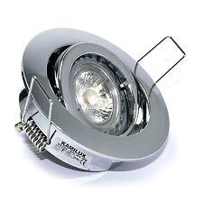 230V Bad Deckenleuchte Bajo & GU10 7W LED Leuchtmittel 7 Watt Einbautiefe 60mm
