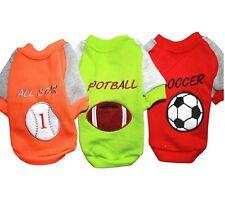 Dog Cat Pet Clothes Apparel WARM Sport Shirt SOCCER BASEBALL FOOTBALL XXS - L