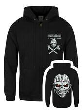 Iron Maiden Hoodie Eddie Axe White Zipped Men's Black