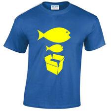 Big Fish Little Fish Camiseta Hombre Divertido Piedra Bailarina ROSAS