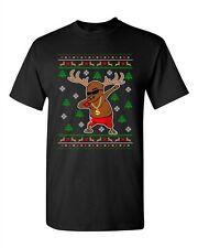 Rudolph Gangsta Thug Reindeer Cool Ugly Christmas Funny Adult DT T-Shirt Tee