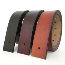 "Top quality Mens Belt No Buckle Genuine Leather Belt Waist Size 30""-55"" 3 colors"