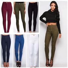 Nueva MUJER JEANS SKINNY FIT cintura alta, jeggings/leggings/trousers Tamaño 6/8/10 / 12