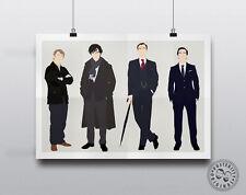SHERLOCK - Minimalist Characters Poster  Posteritty Holmes Watson Cumberbatch