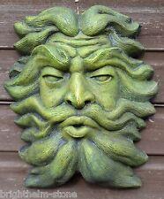 GREEN MAN PLAQUE FOUNTAIN MASK stone garden ornament Aeolus Ruler of Winds 36cmH