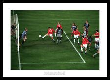 Manchester United 1999 Champions League Final Solksjaer Winning Goal Photo (9SP)