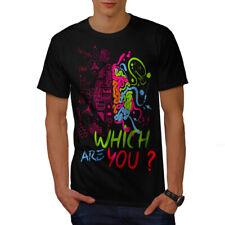Wellcoda Which Brain Nerd Geek Mens T-shirt, Choose Graphic Design Printed Tee