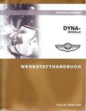 HARLEY-DAVIDSON Werkstatthandbuch 2003 Dyna FXD DEUTSCH Buch 99481-03G Neu OVP