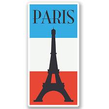 2 x Paris France Vinyl Stickers iPad Laptop Travel Luggage Tag Flag Gift #4353