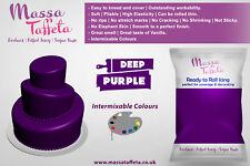 Massa Taffeta Fondant Sugar paste Ready to Rolled Icing Cake Craft | Deep Purple