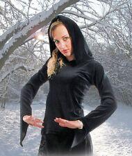 moyen-âge gothique wicca pagan sorcière Nicky VELOURS TOP LONG CAPUCHE 36 38 40