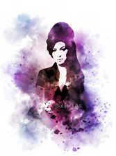 ART PRINT Amy Winehouse illustration, Music, Artist, Wall Art, Home Decor, Gift
