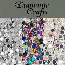 1000 x 4mm Diamante Loose Flat Back Rhinestone Nail Body Art Craft Vajazzle Gems