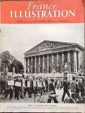 FRANCE ILLUSTRATION 1946 N 43 MANIFESTATION POUR LA HAUSSE DES SALAIRES A PARIS
