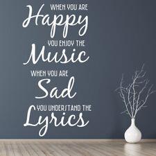 Muziek en teksten Inspirerend citaat Muursticker WS-19744