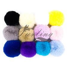 12pcs Lot Faux Rabbit Fur Pom Poms Balls for Knitted Hat Diy Fur Pompoms Craft