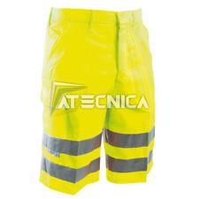Bermudas amarillo alta visibilidad reflectante AERRE ACV pantalones cortos ISO E