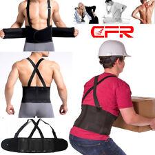 Heavy Duty Lift Lumbar Lower Back Waist Support Belt Brace Suspenders For Work A