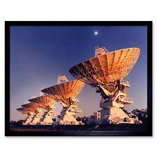 Csiro Space Five Telescope Antennas Narrabri Nsw Photo Wall Art Print Framed