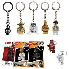 Lego Star Wars LEDLITE Schlüsselanhänger R2-D2 C3PO Yoda Darth Vader Leia Ackbar