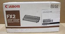 Genuine Canon FX2 Black Toner Cartridge 1556A003BA Fax L550, L600, LC5000