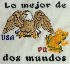 Lo Mejor de dos Mundos Puerto Rico & USA Coqui & Eagle Embroidered Baby Bodysuit