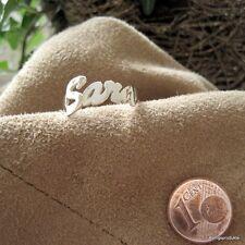 1 Namensring mit Wunschname in 925er Silber, Buchstabenanzahl & Größe wählbar