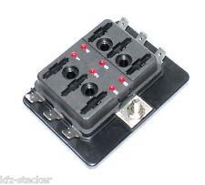 KFZ Sicherungshalter 6fach Status LED Auto Flach Sicherung Halter Dose Box Boot
