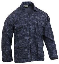 navy blue digital camo bdu shirt military style camouflage coat rothco 5751