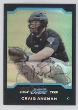 2004 Bowman Chrome Refractor #228 Craig Ansman Detroit Tigers Baseball Card