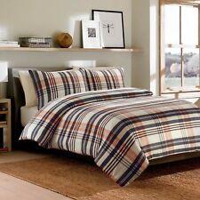 100% Brushed Cotton Warm Duvet Quilt Cover Bedding Set Beige/Brown Flannelette