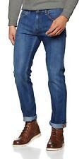 Lee Daren Zip Fly Regular Fit Slim Leg Jeans Men Tapered Denim Pants True Blue
